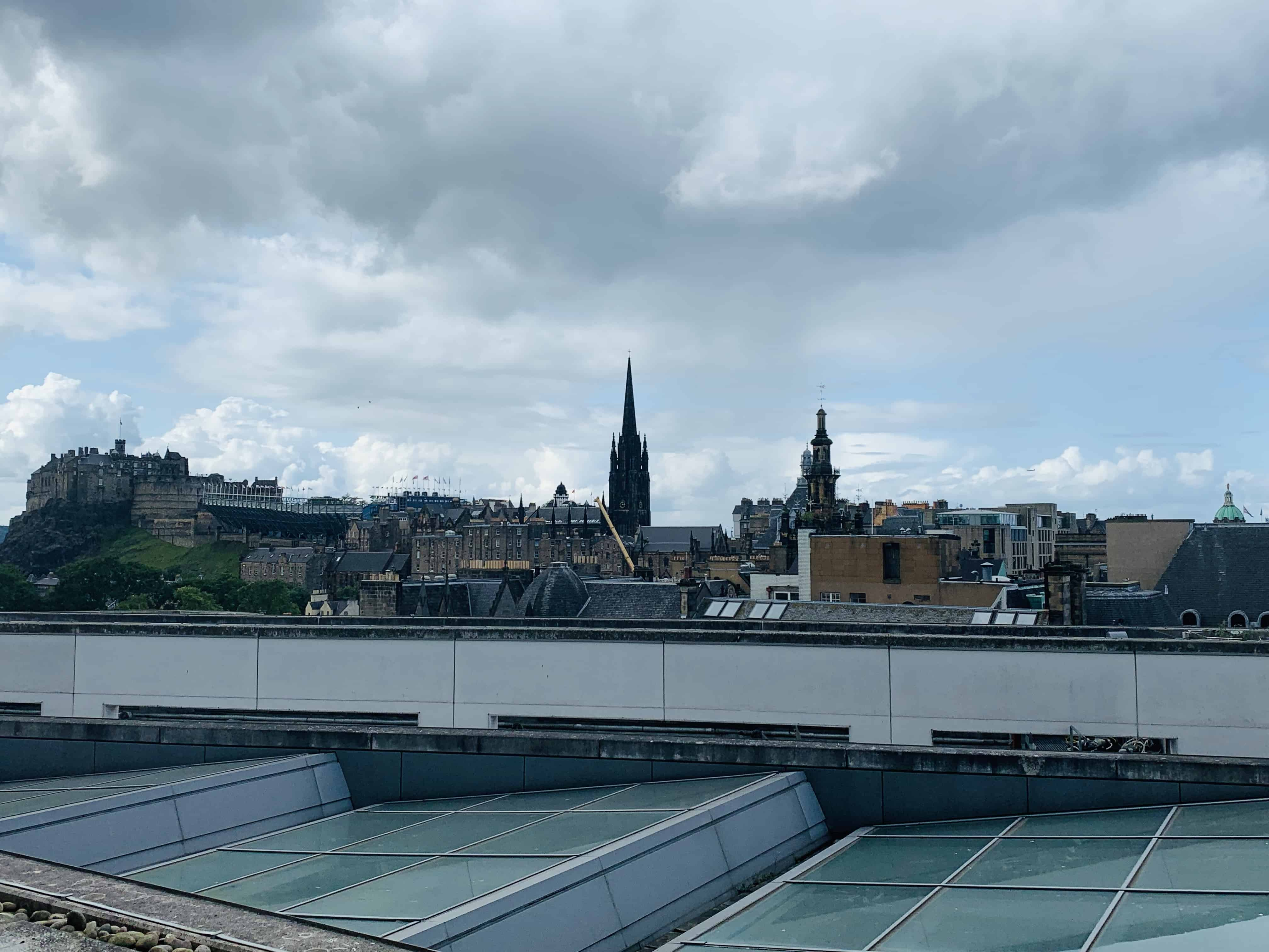 Rooftop view from the National Museum of Scotland